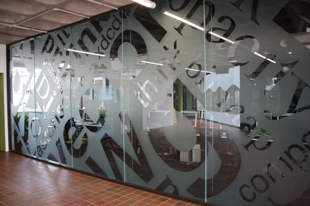 Decorative window glass films brisbane cooltone - Interior window tinting for privacy ...